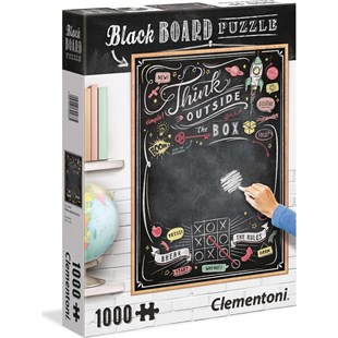 Clementoni 1000 Parça Blackboard Yetişkin Puzzle - Think Outside the Box